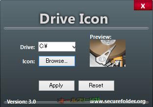 Drive Icon--アイコン選択後--オールフリーソフト