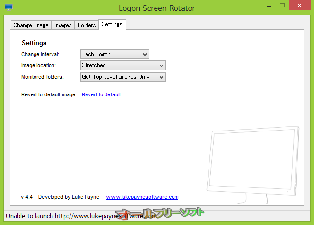 Logon Screen Rotator--Settings--オールフリーソフト