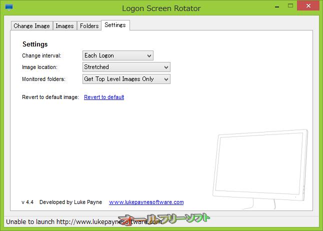 Logon Screen Rotator--Settings--オールフリーソフト