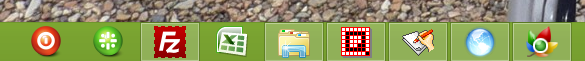 Opaque Taskbar--オールフリーソフト