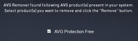 AVG Remover--起動時の画面--オールフリーソフト